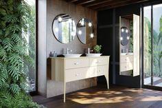 Meuble de salle de bain ORGANIC   VM Bathroom, Vanity, Decor, Lighted Bathroom Mirror, Furniture, Round Mirror Bathroom, Bathroom Lighting, Bathroom Mirror, Home Decor