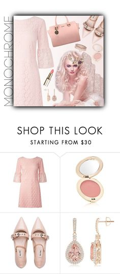 """""""Head to Toe, Pink"""" by ragnh-mjos ❤ liked on Polyvore featuring Miss Selfridge, Jane Iredale, Miu Miu and Monsoon"""