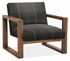 Zane Chair in Stuart Fabric - Chairs - Living - Room & Board