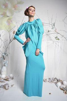 Dragonfly - awangardowa suknia ślubna w kolorze mięty