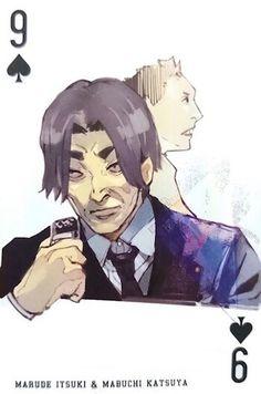 Marude Itsuki & Maduchi Matsuya ~ 9 of Spades ~ Tokyo Ghoul trump cards