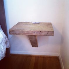 Bedside table out of reclaimed wood