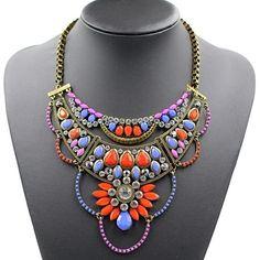 Choker rhinestone collar  statement Necklace