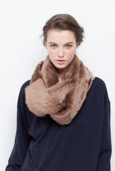 Gushlow & Cole shearling scarf AW13