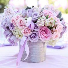 Princess Sophia Birthday party - purple flowers. So cute, elegant, tasteful Christine Zohrabians @christine_fancy