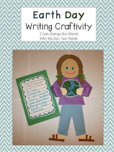 School Is a Happy Place: With My Own Two Hands a FREE Earth Day Writing Craftivity