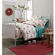 Tweet Tweet Flannel Duvet Cover and Sham. We may need these. I don't do flannel sheets, but a flannel duvet??