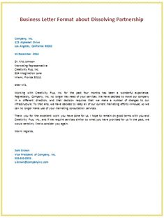 sample business letter