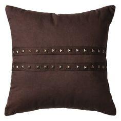 "Nate Berkus for Target® Decorative Studded Pillow 16"" - Brown"
