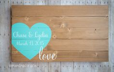 Guest Book Wood Sign with Hand Painted Wrap por AmandaGdesigns
