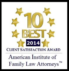 """Irvine business litigation lawyer Gregory G. Brown receives """"Client Satisfaction Award"""" for 2014 by American Institute of Family Law Attorneys."""