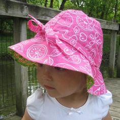4 in 1 Sun Hat: Sun Hat Pattern PDF Sewing by PeekabooPatternShop