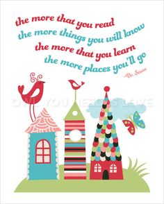 16x20 Dr Suess Quote Wall Art Print by OwlUNeedIsLove on Etsy, $23.95