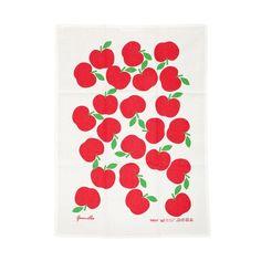 #apple #print #fabric #teatowel