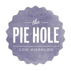 Eat // The Pie Hole: Simple logo design Love the simplicity of the typography & the textured grey