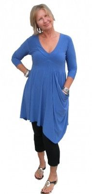 Sympli Separates 3/4 sleeve Soft Pocket Tunic – Artragous Clothing available in many colors 714-628-0949