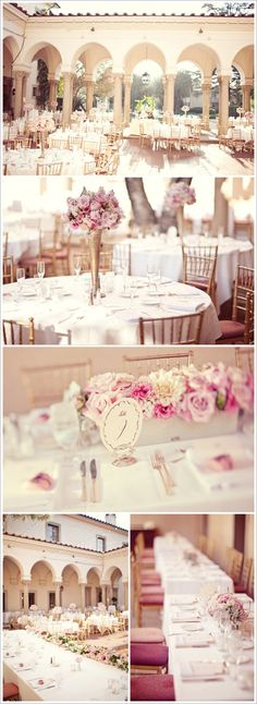 I have found a picture that describes perfectly what I want my wedding to look like...except with a pink and sliver color scheme.