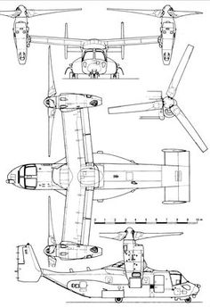 1164 Best Aircraft 3-view Scale Drawings images in 2019