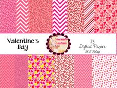 Enjoy this digital paper pack!  It features 13 commercial use digital pages (png) all in 300 dpi resolution.Make the most of your projects with these Valentines DayDigital Papers.And if you like them, I would really appreciate your possitive feedback.*****************************************************************************Customer Tips: How to get TPT credit to use on future purchases:  Please go to your My Purchases page (you may need to login).