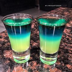Night Lights Shot - For more delicious recipes and drinks, visit us here: www.tipsybartender.com                                                                                                                                                                                 More