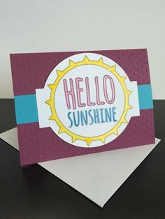 Hello Sunshine Greeting Card by CraftsByKesh on Etsy https://www.etsy.com/listing/463849413/hello-sunshine-greeting-card