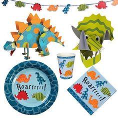 meri meri dinosaur party supplies | Meri Roarrrrr! Party Kit by Meri Meri. $59.95. 10 feet of dinosaur ...