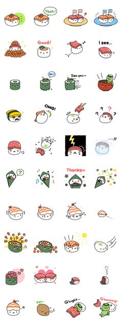 """""""Hey, OMACHI!"""" Cute & yummy SUSHI stickers are back!"""
