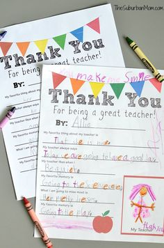 Thank You Teacher free printable - a lovely end of gift project!