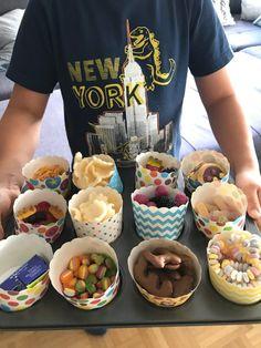 Naschbar DIY Ferienkino mit Freunden zuhause - Jules kleines Freudenhaus Desserts, Food, Summer Time Love, Homemade, Ad Home, Tailgate Desserts, Deserts, Essen, Postres