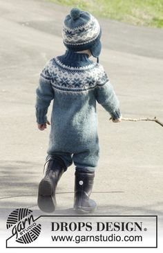Wild blueberries / DROPS children - free knitting patterns by DROPS design, Knitting For Kids, Baby Knitting Patterns, Baby Patterns, Free Knitting, Drops Design, Baby Barn, Baby Pullover, Wild Blueberries, Jumpsuit Pattern