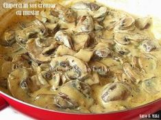 Ciuperci in sos cremos cu mustar Pasta Recipes, Cooking Recipes, Good Food, Yummy Food, Romanian Food, I Want To Eat, Appetizers For Party, International Recipes, Food Hacks