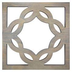 Wood Tile Geometric Wall Art Sculpture - Grey Wash