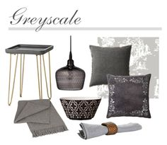 """Greyscale"" by thehouseologists ❤ liked on Polyvore featuring interior, interiors, interior design, home, home decor, interior decorating, Lene Bjerre, Timorous Beasties, Elvang and Flamant"