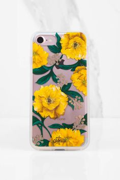 Sonix Poppy Yellow Floral Print iPhone 7 Case at Tobi.com #shoptobi
