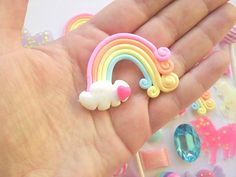 Super whimsical enchanted kit Candy kitsch pastel theme Consists of large statement pieces made from polymer clay and resin with jewelled