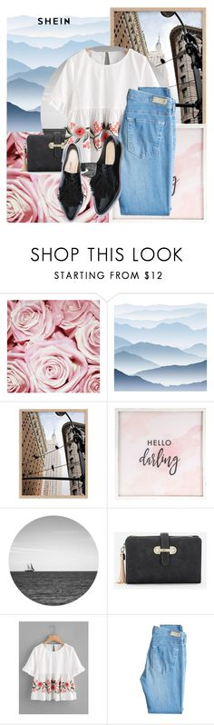 """""""Untitled #379"""" by mariana-fifi-cardoso ❤ liked on Polyvore featuring York Wallcoverings, Hello Darling and AG Adriano Goldschmied"""