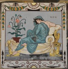 "The nights are drawing in. ""Nox,"" thanks @britishmuseum—ceramic tile designed by Walter Crane http://www.victorianweb.org/art/design/ceramics/tiles/29.html …"