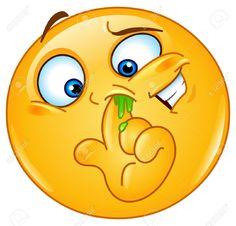 Illustration of Emoticon picking his nose vector art, clipart and stock vectors. Emoticon Feliz, Smiley Emoticon, Emoticon Faces, Funny Emoji Faces, Smiley Faces, Emoticons Do Facebook, Animated Emoticons, Funny Emoticons, Images Emoji