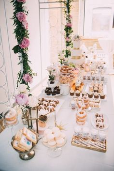Chic and unique wedding dessert table; Featured Photographer: Julius and James Photography, Via Rebecca Chan Weddings & Events