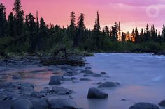 In the Alaskan Backcountry!    Sunset over the Copper River - Wrangell St. Elias National Park