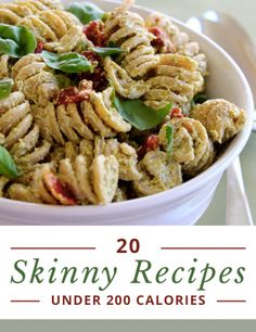 20  Recipes under 200 calories