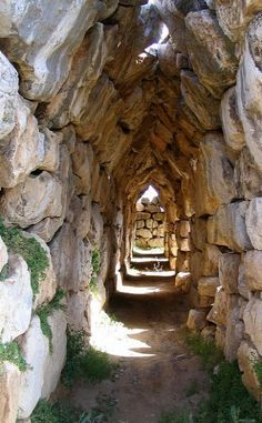 Corbelled Arch..  Ancient Tiryns (Peloponnese), Greece | Flickr - Photo by chelseaL
