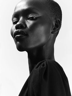 21 Questions With… Victoria's Secret Model Grace Bol Mobel 21 Questions With. African Models, Monochrom, Victorias Secret Models, Black Models, African Beauty, Photo Reference, Portrait Inspiration, Interesting Faces, Beautiful Black Women