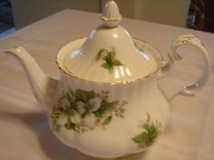 "Royal Albert Trillium Teapot, 8"" high.  SOLD"