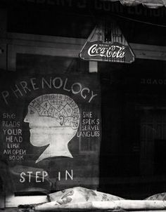 Phrenologist's shop window in New Orleans, 1936.  Photo by Peter Sekaer