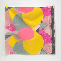 Nani Iro &. Japanese Fabric - canvas - grey, yellow, pink - panel