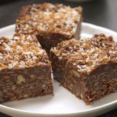 New favorite dessert alert! These No-Bake Peanut Butter Chocolate Coconut Bars are as easy as they are tasty, and much more delicious than other no-bake treats.