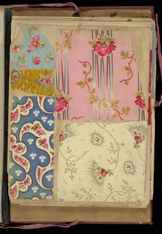 Red cloth bound portfolio containing 154 miscellaneous samples of printed cottons. Textile Patterns, Flower Patterns, Print Patterns, Textile News, Wallpaper Samples, Novelty Print, Design Museum, Texture Art, Surface Pattern Design
