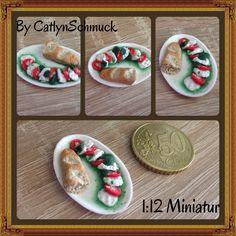 Meine erste aufwendigere 1:12 Miniatur...., ich bin dich sehr zufrieden mit dem Ergebnis :), was denkt ihr ?  #InstaFrame#YourMoments#fimoaddict #polymerclay #Fimo #miniatures #minifood #miniature #miniaturefood