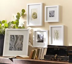 Wood Gallery Single Opening Frames #potterybarn White on white